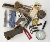 Brushes, Brackets, Master lock, Sharpening Stones, etc.