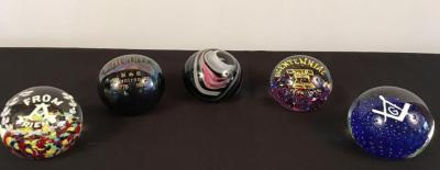 Lot of 5 Paperweights