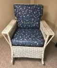 Wicker Padded Rocking Chair