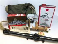 Black Powder Shooting Items and Weaver Scope