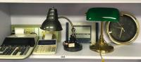 Clocks, Desk Calculators and Lamps