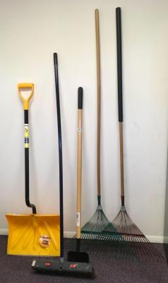 Rakes, Shovel, Broom, Etc.