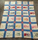 Quilt and Assortment of Blankets