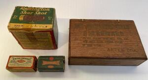 Vintage Ammo and Wooden Cigar Box