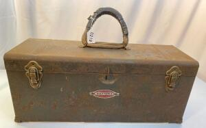 Vintage Craftsman Tool Box and Contents