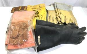 Leather Lineman Gloves and Misc.