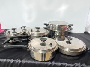 Ekco 6 piece Stainless Steel Cookware Set