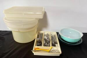 Tupperware, Flatware and Pyrex