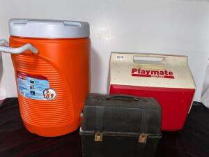 Coolers and Vintage Lunch Box