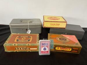 Vintage Lock Boxes and Cigar Boxes