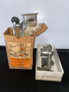 Vintage Food Grinder and Cutter