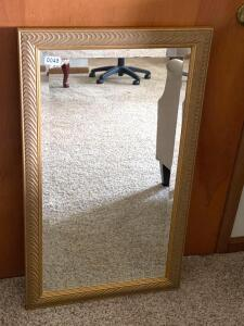 Beveled Glass Framed Mirror