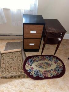 File Cabinet, Side Table and Runners