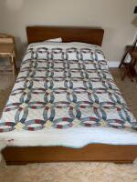 Hand Stitched Quilt and Wool Blankets.