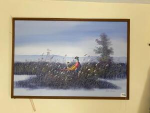 Oil on Canvas Pheasant Picture