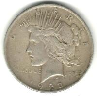 1922 Liberty Peace Dollar
