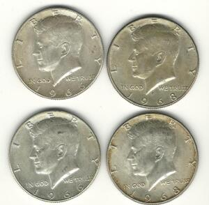 Lot of 4 Kennedy Halves