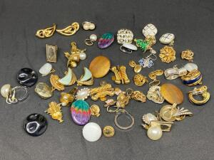 Lot of Costume Earrings and Pins