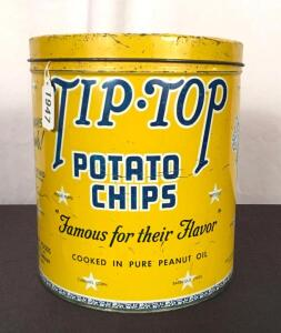 Tip-Top Potato Chips Tin from Troy, Ohio