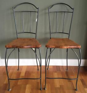 Lot of 2 Counter Height Barstools