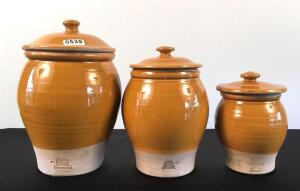 Rowe Pottery Works Canister Set