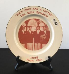 The Mills Brothers Collectible Plate