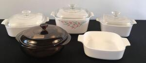 Lot of Corningware and Pyrex
