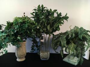 Lot of 3 Artificial Plants