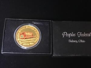 Peoples Federal Commemorative Silver Coin
