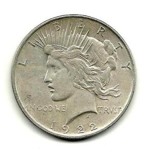 1922 Lady Liberty Peace Dollar