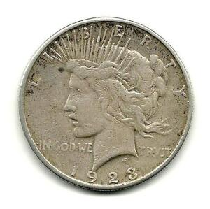 1923 Lady Liberty Peace Dollar