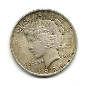 1924 Lady Liberty Peace Dollar