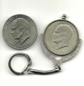 1971 Eisenhower Liberty Dollar & 1971 Keychain