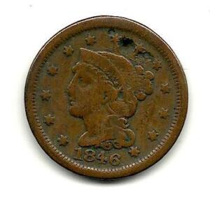 1846 Braided Hair Liberty Head Copper Penny