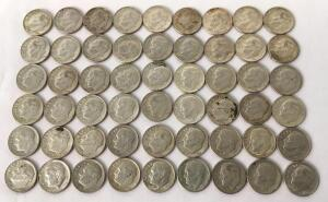 Lot of 1964 Roosevelt Dimes - 54