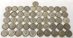 Lot of 1964 Roosevelt Dimes - 51