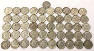 Lot of 1964 Roosevelt Dimes- 51