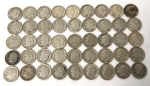 Lot of 45 Roosevelt Dimes