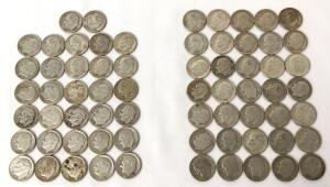 Lot of 67 Roosevelt Dimes