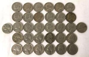 Lot of 32 Jefferson Nickels