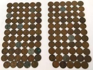 Lot of 1940's Lincoln Wheat Pennies- 130