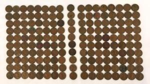 Lot of 1950's Lincoln Wheat Pennies-170