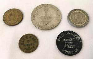 Imperial House Motel Chain $1 Coin and Miscellaneous Novelty Coins