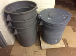 JHA - Group of four trash cans