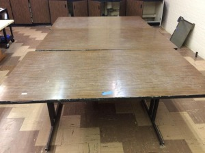 JHA-Lot of 3 Worktables