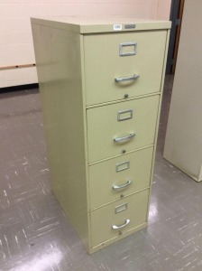 HH - Four drawer metal file cabinet