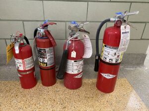 EO- Lot of 4 Fire Extinguishers