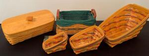 Lot of 5 Longaberger Baskets