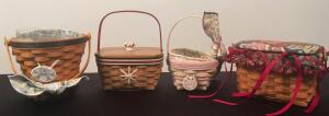Lot of 4 Longaberger Baskets