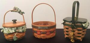 Lot of 3 Longaberger Baskets